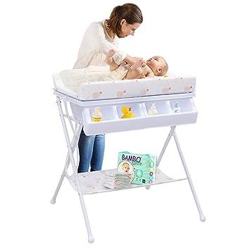 Wickelkommode Baby Wickeltisch Badewanne Wickelauflage Wickelregal Mobil 2 Farbe