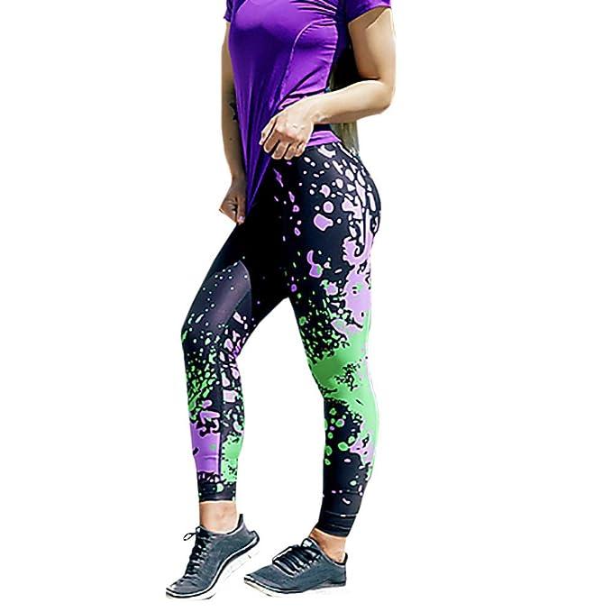 Amazon.com: URIBAKE ❤ Moda Mujer Legging Impreso Elástico ...