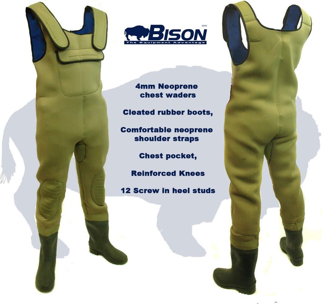 suela con tacos todas las tallas Bison Mono de neopreno de 4 mm con botas bolsillo para m/óvil