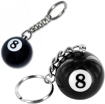 Bola de billar número ocho Llaveros: Amazon.es: Juguetes y juegos