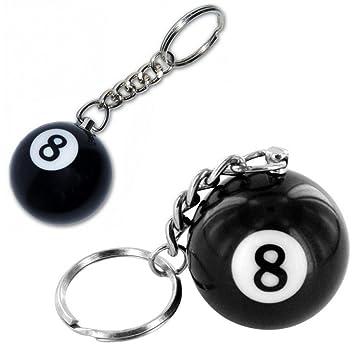Bola de billar número ocho Llaveros: Amazon.es: Juguetes y ...
