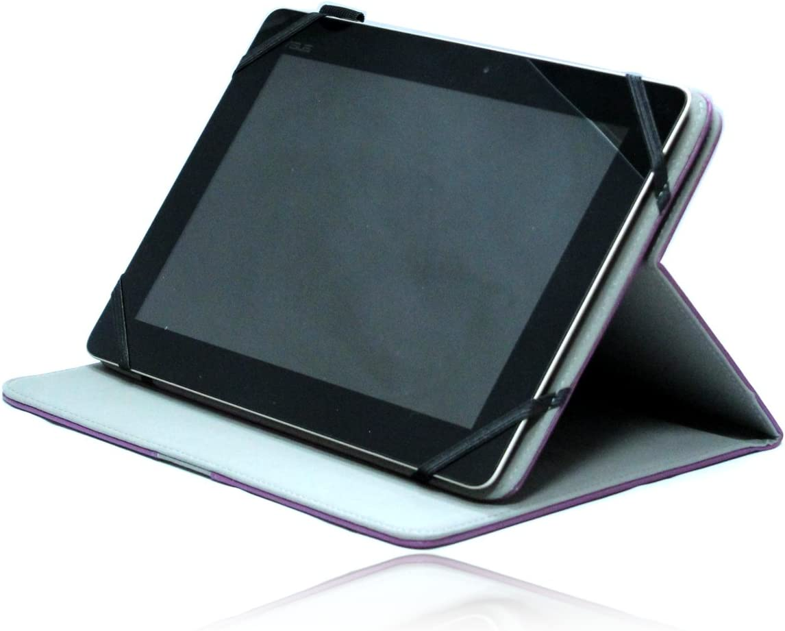 Navitech Purple Faux Leather Case Cover with 360 Rotational Stand Compatible with The Acer Aspire Iconia Tab A200 /A210/ A211 /A500 /A510 /A700 / W510