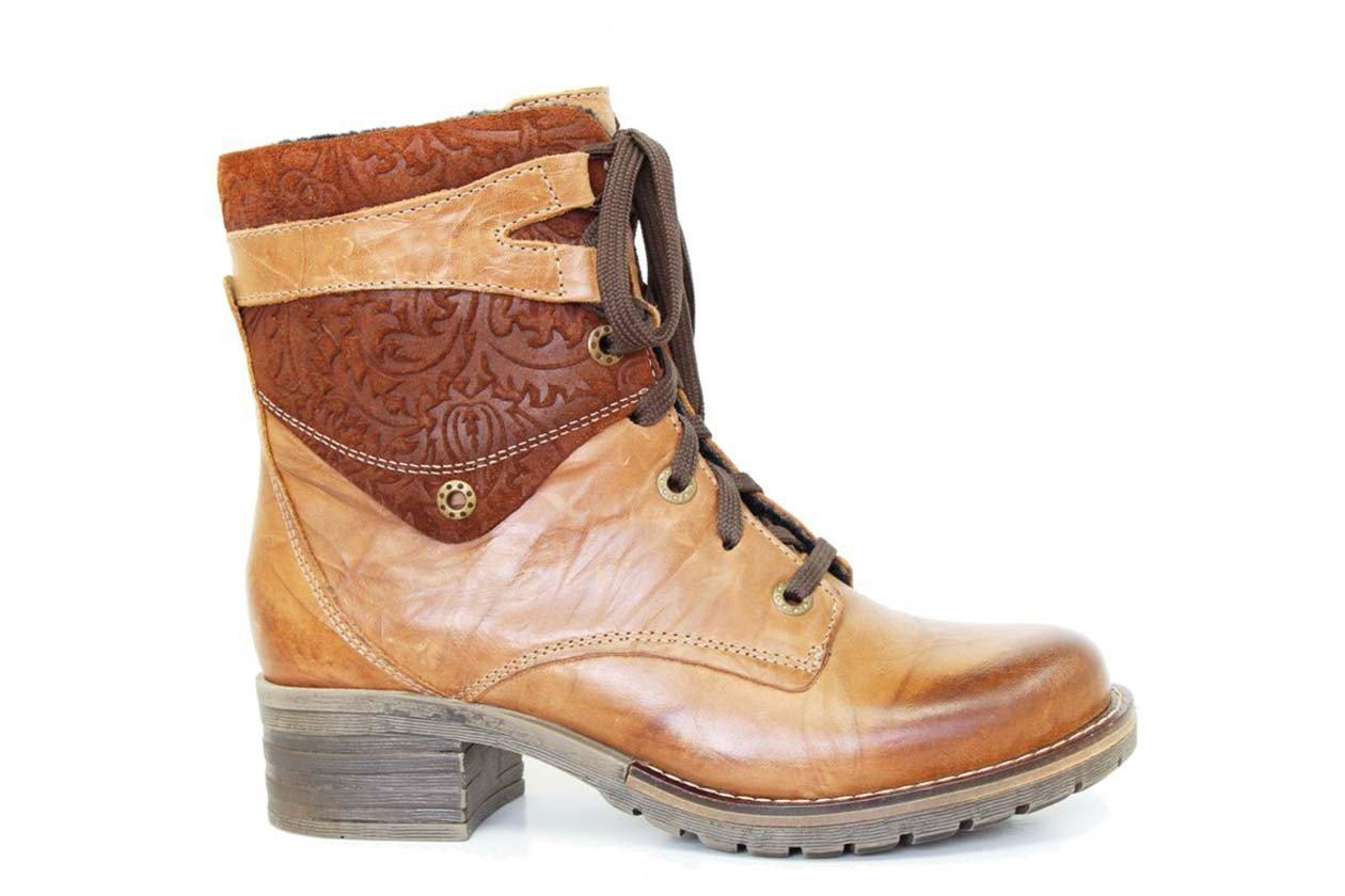 Dromedaris Women's Kara Boot, Saddle Print Top, EU 38M