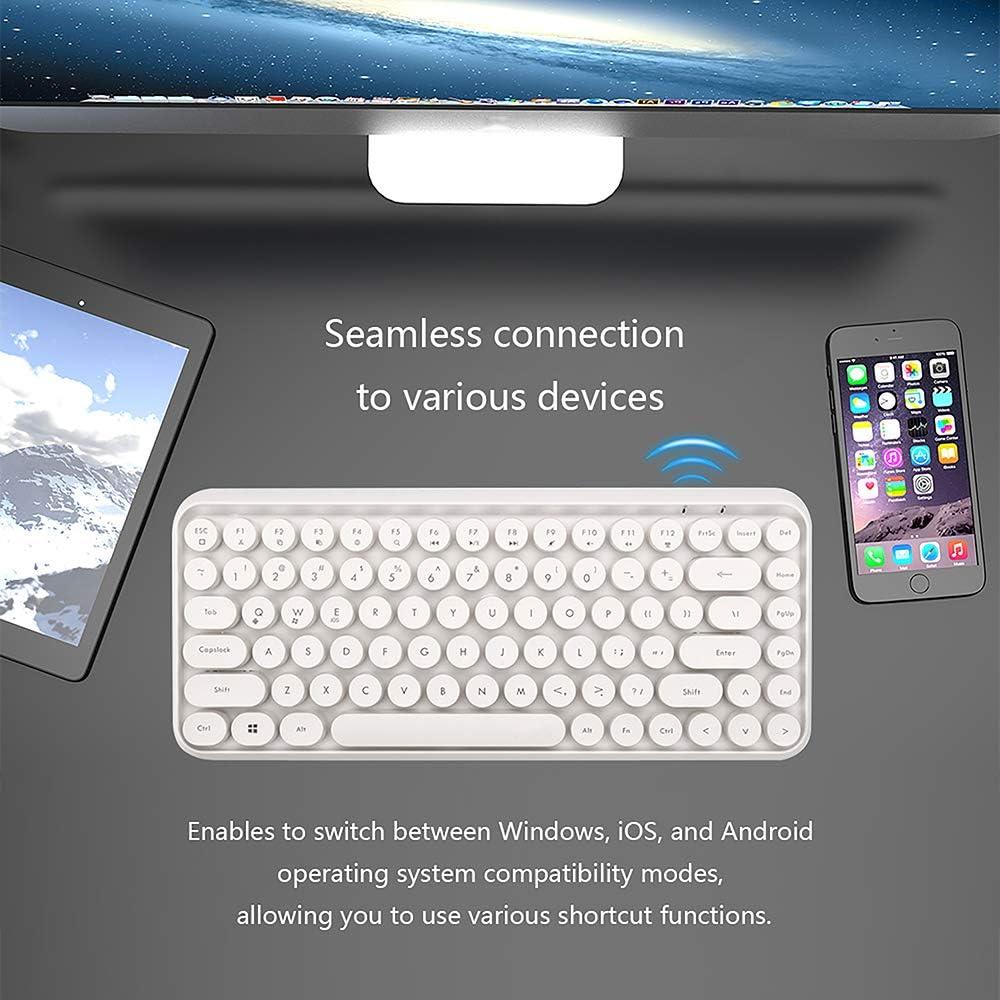 Bluetooth Keyboard, Wireless Compact Lichtgewicht Keyboard Silent Ergonomic Keyboard Compatibel Met Android En Andere Apparaten Ondersteuning Ondersteuning Windows 2000 / XP / 7/8 Black