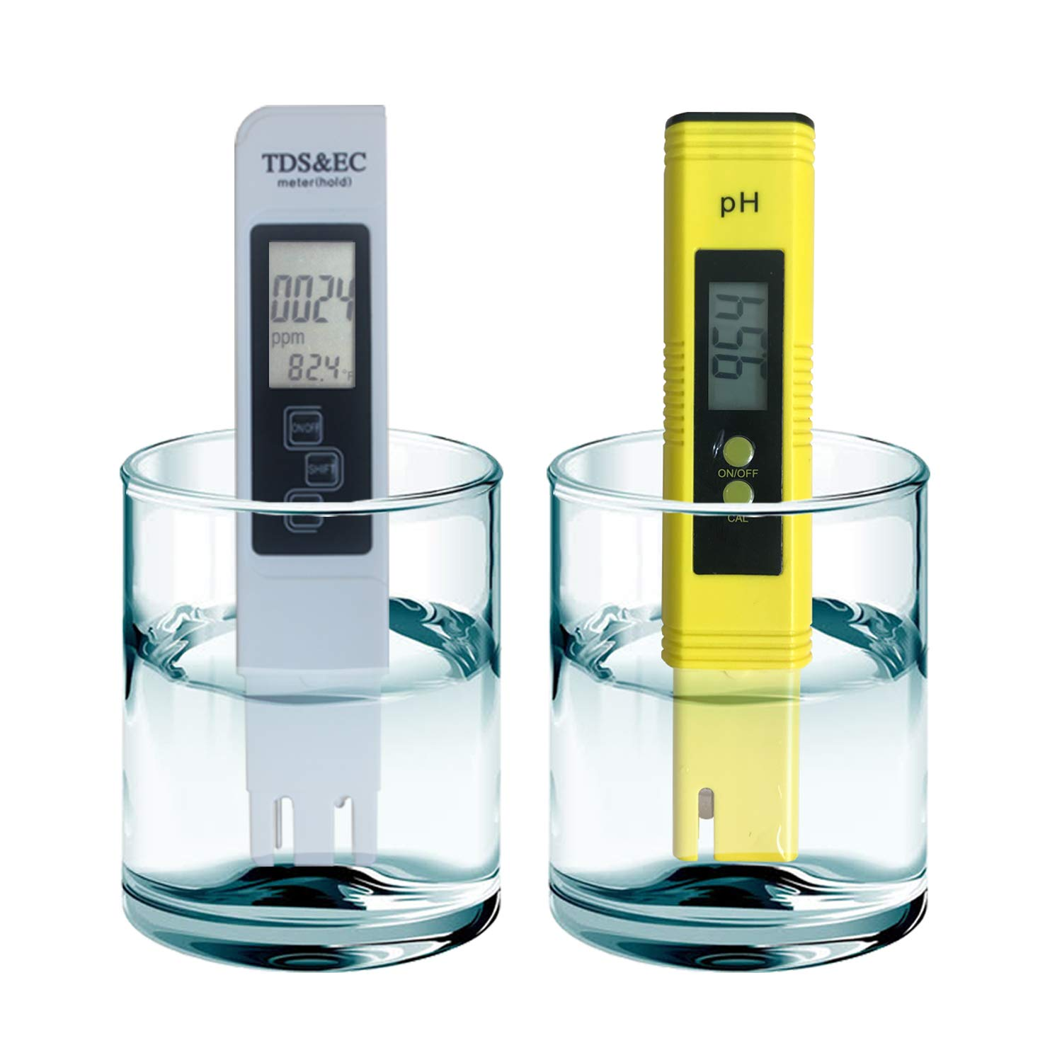 Portable Accurate Water Quality Tester ,Detect TDS, Temperature ,Auto Calibration,Conductivity and PH.