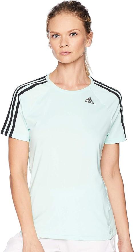 dd5f40118797d Amazon.com: adidas Training Designed-2-Move 3 Stripes Tee, Clear ...