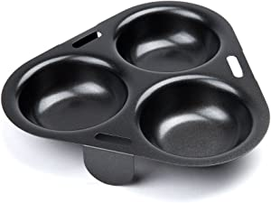 Fox Run 5202 3-Egg Poacher Insert, Carbon Steel, Non-Stick