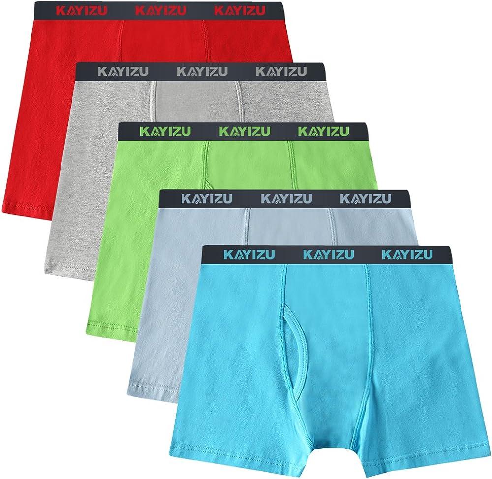 Boys 5 Pack Comfort Soft Boxer Brief Cotton Underwear
