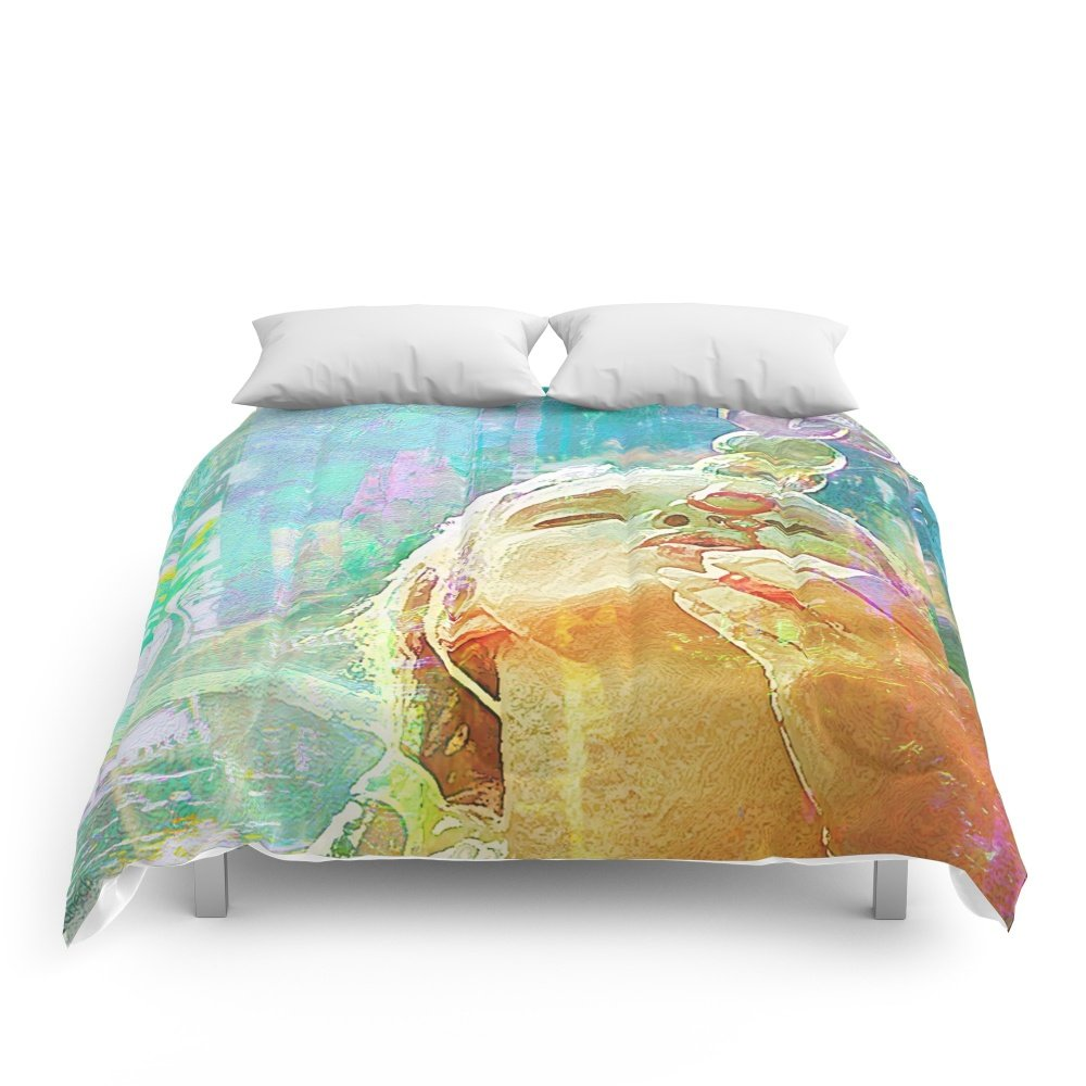 Society6 Soap Bubbles Girl Comforters King: 104'' x 88''