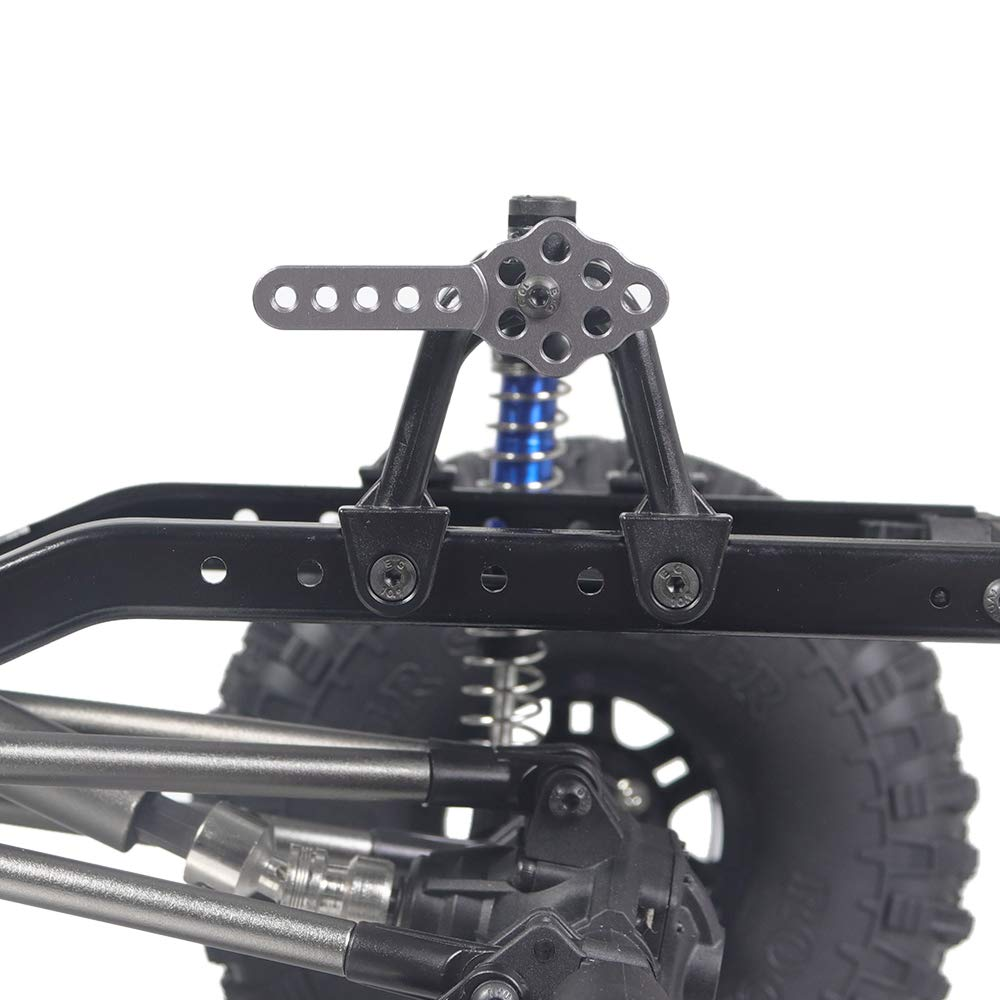 ROWEQPP 4Pcs CNC Metal Shock Absorber Mount Adjust Height Angle Stand for RC Crawler Car Axial SCX10 90046 D90 D110 Black