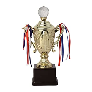 b4eebd84c18 Buy Shree Krishna Stores Gold Fibre Trophy Online at Low Prices in India -  Amazon.in