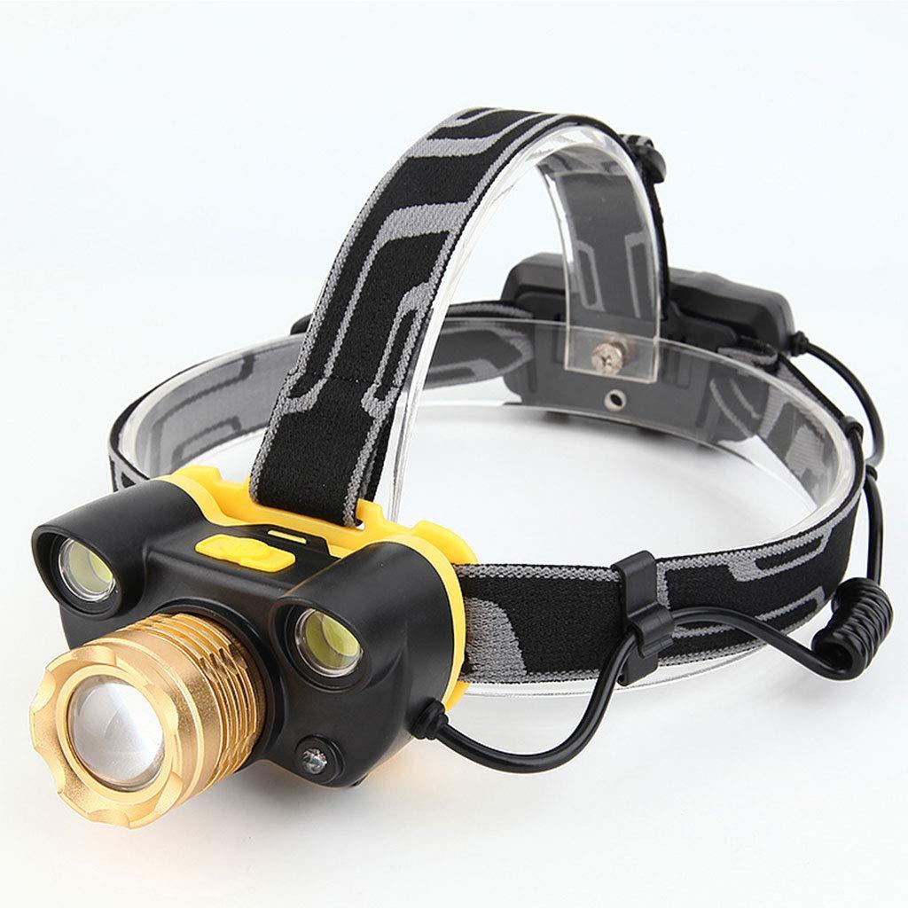 Weiße LED-Scheinwerfer Zum Laufen, Camping, Lesen, Klettern, Kinder, DIY, Aufladen Des Lebens 5 Stunden Super Helle 45W Wasserdichte Scheinwerfer-Taschenlampe-Bergmannlampe