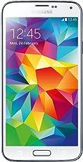 Samsung SM-G900M Galaxy S5 - Smartphone, Quad Core 2.5 GHz, Memoria Interna 16 GB, Memoria externa hasta 64 GB, 16 MP, Android 4.4, Blanco