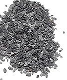 Natural Slate Stone – Less than 1/8 inch Slate Gravel for Miniature or Fairy Garden, Aquarium, Model Railroad & Wargaming 8oz