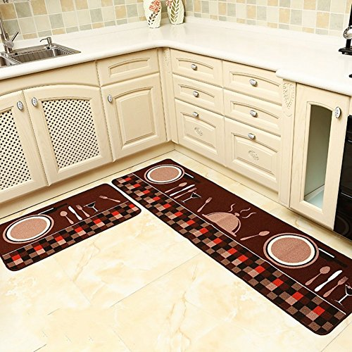 seamersey home and kitchen rugs 2 pieces 4 size decorative nonslip rubber  backing doormat runner area mats sets. Kitchen Carpet  Smart Design Kitchen Runners For Hardwood Floors
