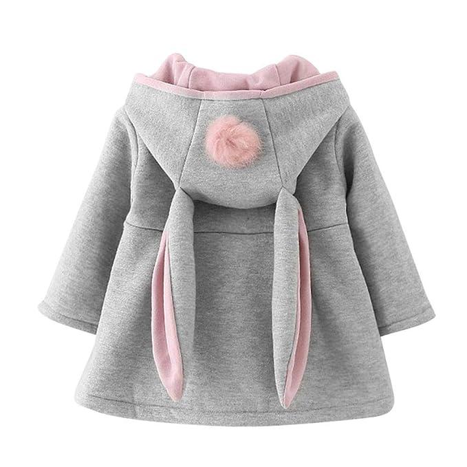 Abrigo de Invierno cálido para niñas, Sudaderas con Capucha Orejas de Conejo para bebés.: Amazon.es: Ropa y accesorios