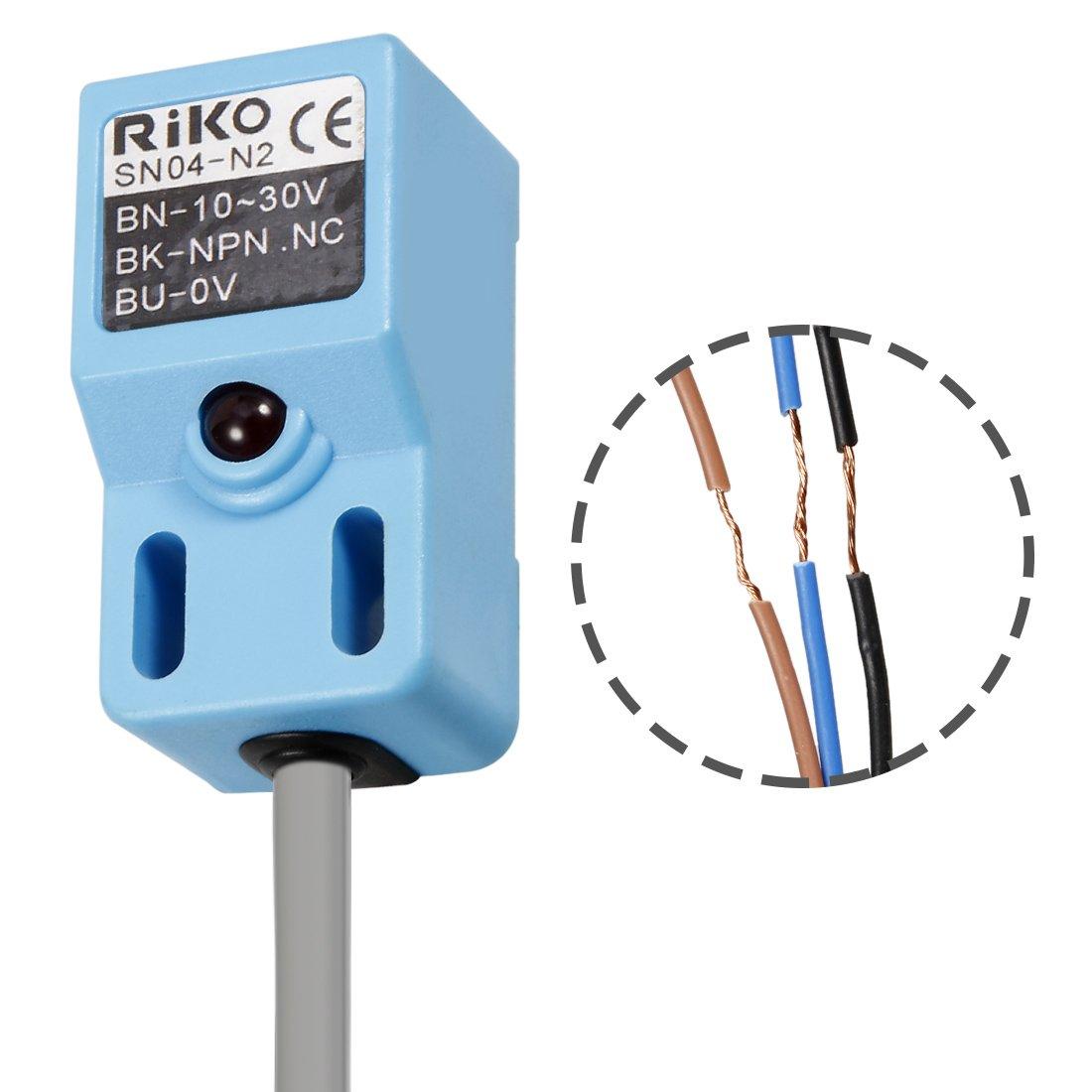 Uxcell a12091200ux1079 SN04-N2 NPN NC Inductive Proximity Sensor ...