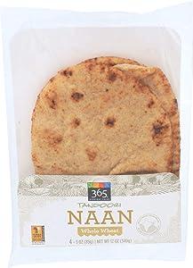 365 Everyday Value, Tandoori Naan, Whole Wheat, 4 ct