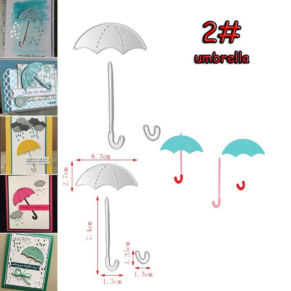 Feidajdzf mignon Robe Parapluie de coupe Dies Pochoirs Cartes de visite papier de scrapbooking DIY Outil de bricolage/ /1/#