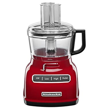 KitchenAid 7-Cup Food Processor with Exact Slice System, Empire Red (Renewed)