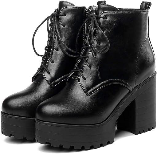 cynllio Fashion Chunky High Heels