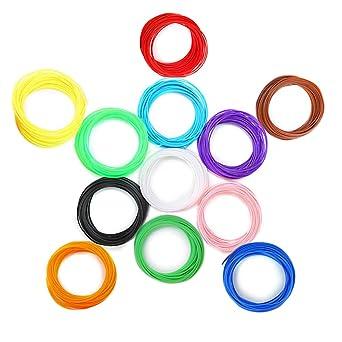 Filamentos Lapiz 3d, Aufeel 12 Colores 1.75Mm Filamentos de PLA ...