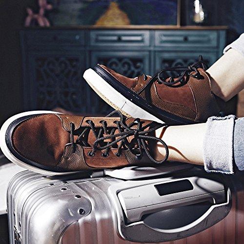 ACBC Scarpa Sneakers Alta con Stringa Explorer Suola Bianca e Scarpa Marrone con Zip Gran Venta Barata La Venta De Alta Calidad Colecciones Footaction Línea Barata Mejores Precios De Liquidación ZbJMYXR3a