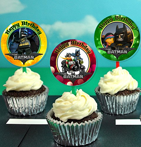 Lego Movie 7 Inch Edible Image Cake /& Cupcake Toppers// Party Birthday