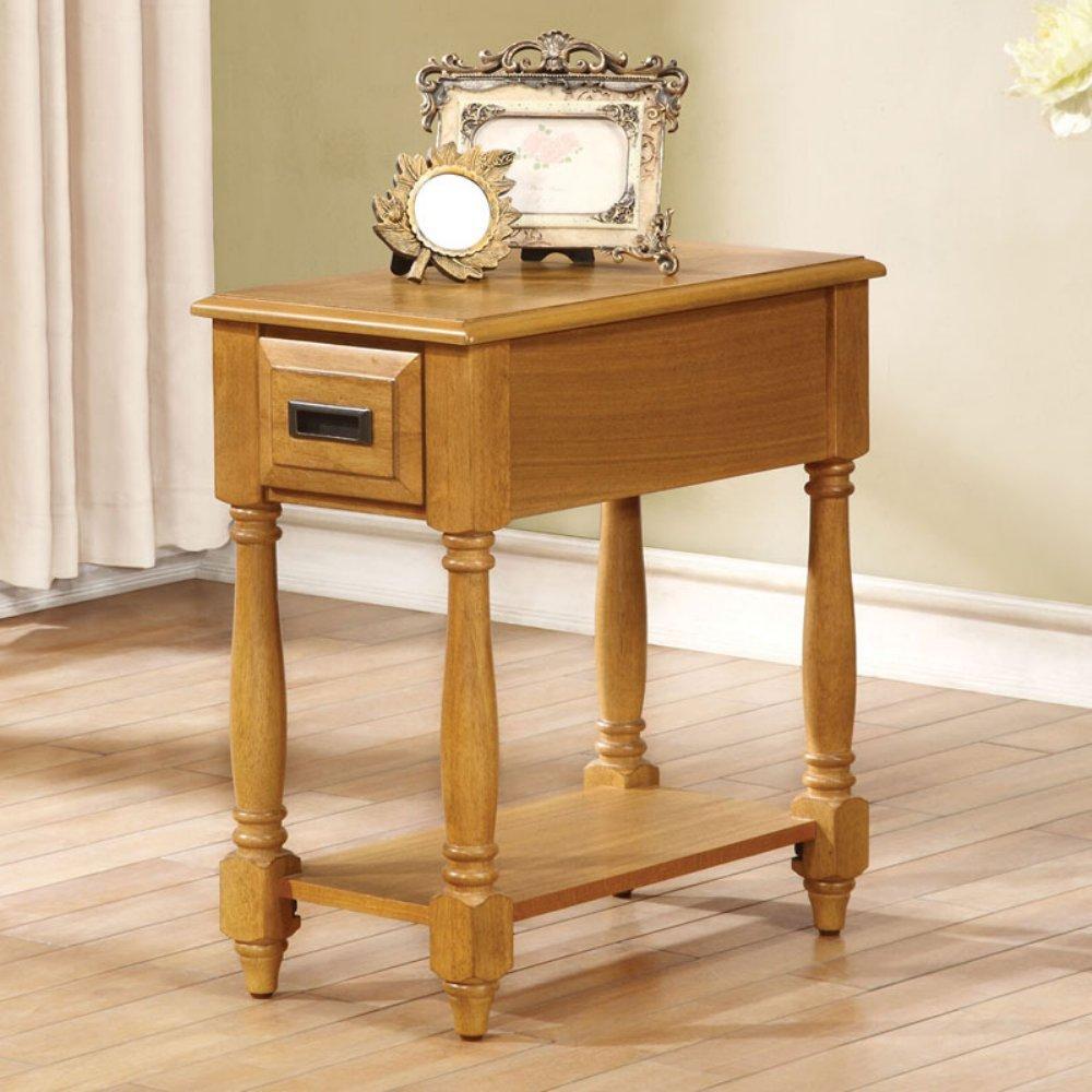 ACME Furniture 80510 Qrabard Side Table, Light Oak