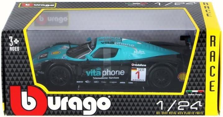 Bburago Maserati MC12 Race Car #1 Blue 28004-1//24 Scale Diecast Model Toy Car