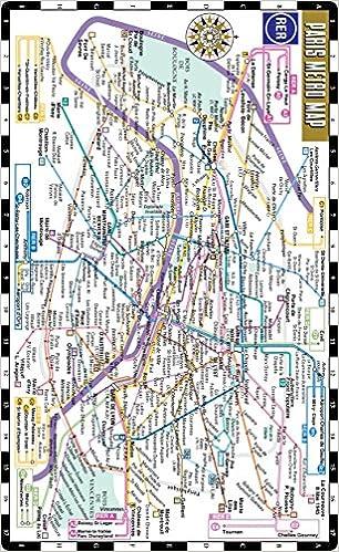 Paris Metro Subway Map.Streetwise Paris Metro Map Laminated Subway Paris Map Rer System