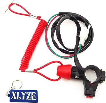 Xlyze Tether Safety Engine Stop Kill Schalter Für Chinesische Mini Dirt Atv Quad Pocket Bike 4 Wheeler Mini Motorrad Auto