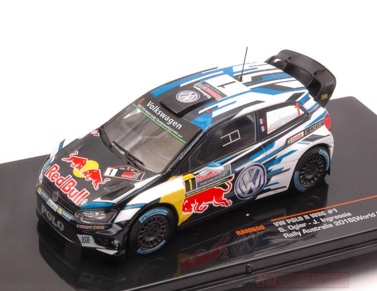 Ixo Model RAM650 VW Polo N.1 Red Bull Rally 2016 Australia OGIER ...