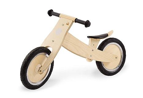 unplattbare Bereifung Pinolino Laufrad Johann f/ür Kinder ab 2 Jahren wei/ß lackiert Holzlaufrad umbaubar vom Chopper zum Laufrad
