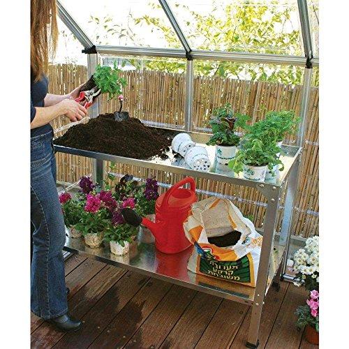 Palram Galvanized Steel Potting Bench 6cows Greenhouse