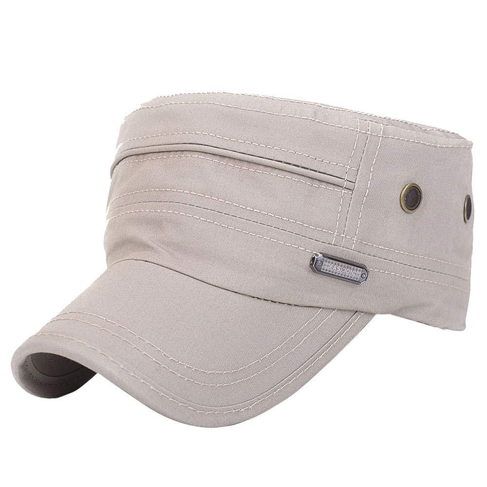 a30291e3709 Teresamoon Unisex Military Hats Sailor Caps Women Cotton Berets Solid Cap  Sun Hat  Home   Kitchen
