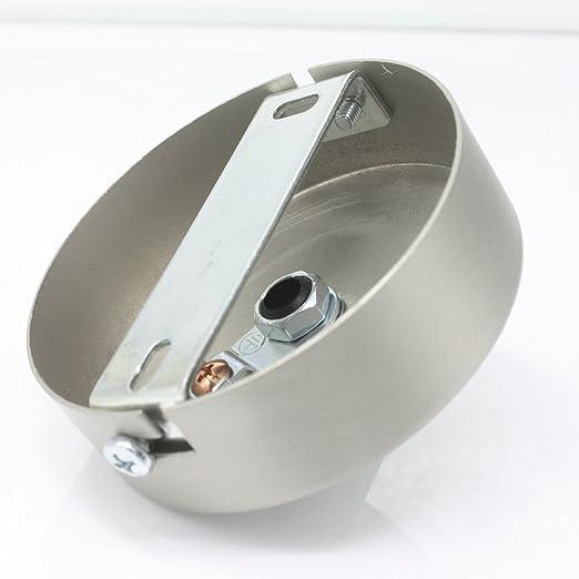 Prise de connexion OR bross/é M/étal en kit avec accessoires /Ø 80/x 25/mm R/épartiteur baldaquin Montage en saillie Bo/îte de jonction avec d/écharge de traction baldaquin de plafond pour suspension suspendu de