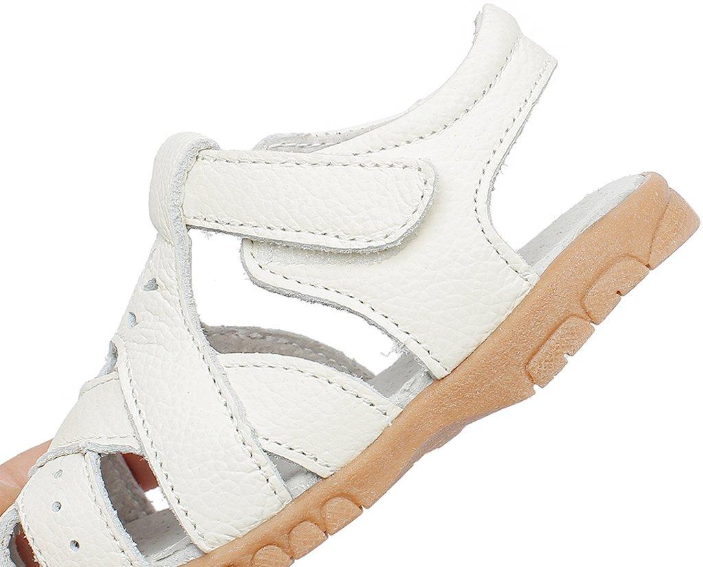 6d85d6d319e320 ... Gaatpot Fille Sandales et Nu-Pieds Bout Fermé Chaussure dété pour  Enfants en Cuir 20 ...
