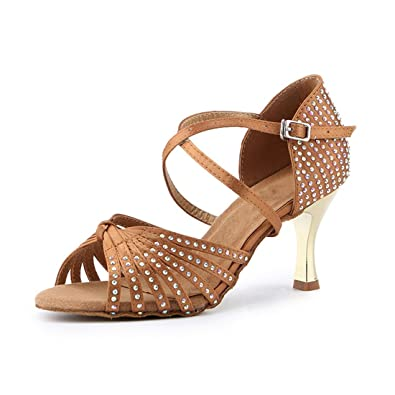 b251165a62 Amazon.com | Miyoopark Women's Knot Fashion Satin Crystals Latin Standard Dance  Shoes Evening Sandals | Ballet & Dance