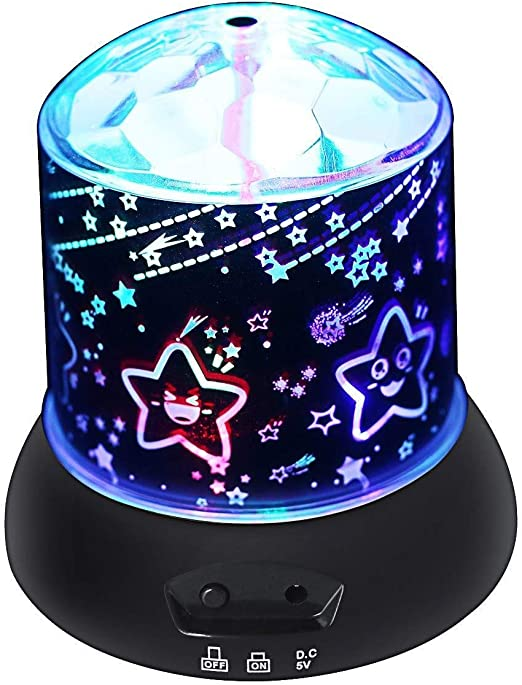 Star Light Rotating Projector Black Projector Lamp
