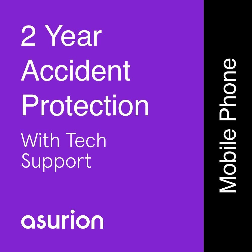 ASURION 2 Year Mobile Accident Protection Plan with Tech Support $100-124.99