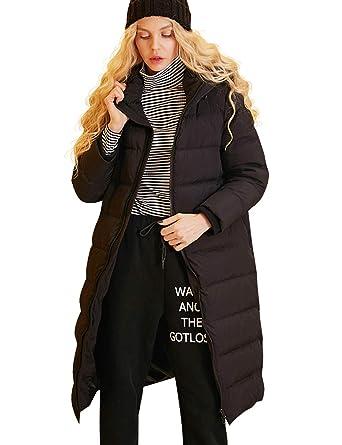 60aba1410 Women Lightweight Packable Hooded Long Down Outwear Jacket, Winter Chevron  Quilt Coat