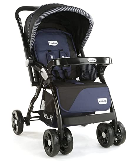 fc145a000 Buy LuvLap Galaxy Baby Stroller and Pram (Black) Online at Low Prices in  India - Amazon.in