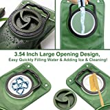 2L Hydration Bladder Water Reservoir, Monoki 2L 70 oz Leakproof Water Bladder Bag for Hiking Camping Climbing Cycling Running Backpack with Large Opening/Quick Release Tube/Shutoff Valve - Army Green