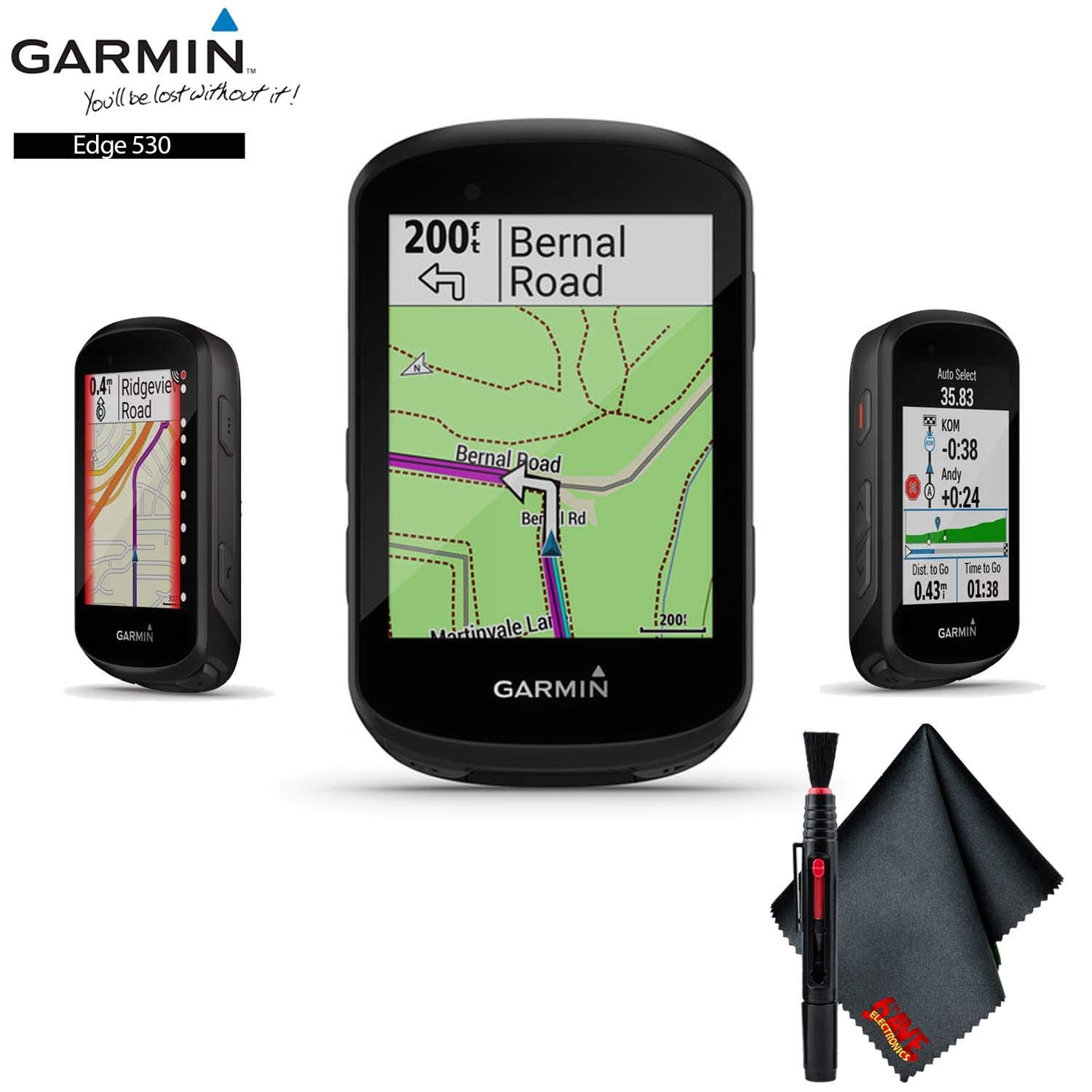 Garmin Edge 530, Performance GPS Cycling/Bike Computer with Mapping, Dynamic Performance Monitoring Accessory Kit by Garmin