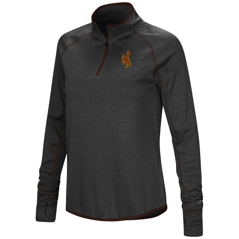 レディース ワイオミング カウボーイズ クォータージップ 長袖シャツ B07G3GG81K  Medium