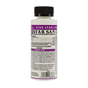 Five Star - Star San - 4 Ounce - Brew Sanitizer High Foaming Acid Anionic
