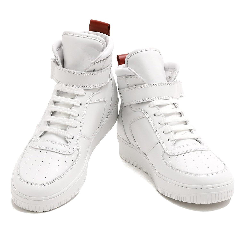 [モンクレール] MONCLER メンズMEN'S スニーカー ハイカット ブーツ CORENTIN レザー 10245 00 19 001 WHITE ホワイト B07DNQ9KVC