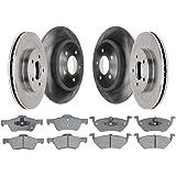 Prime Choice Auto Parts RSCD41491-41491-1202-2-4 Set of Front Brake Rotors and Ceramic Brake Pads