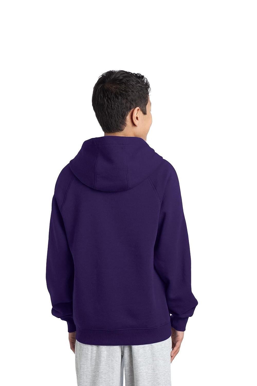 Sport-Tek Boys Sleeve Stripe Pullover Hooded Sweatshirt